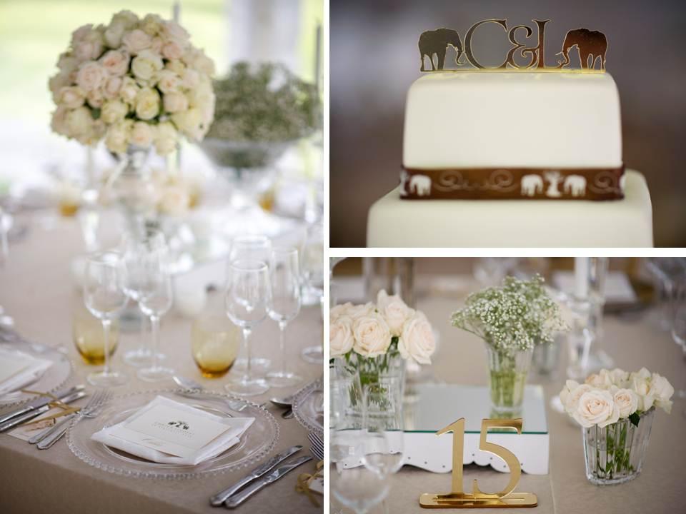 Elegance elephants lindsay chris glamorous bush wedding in with junglespirit Images