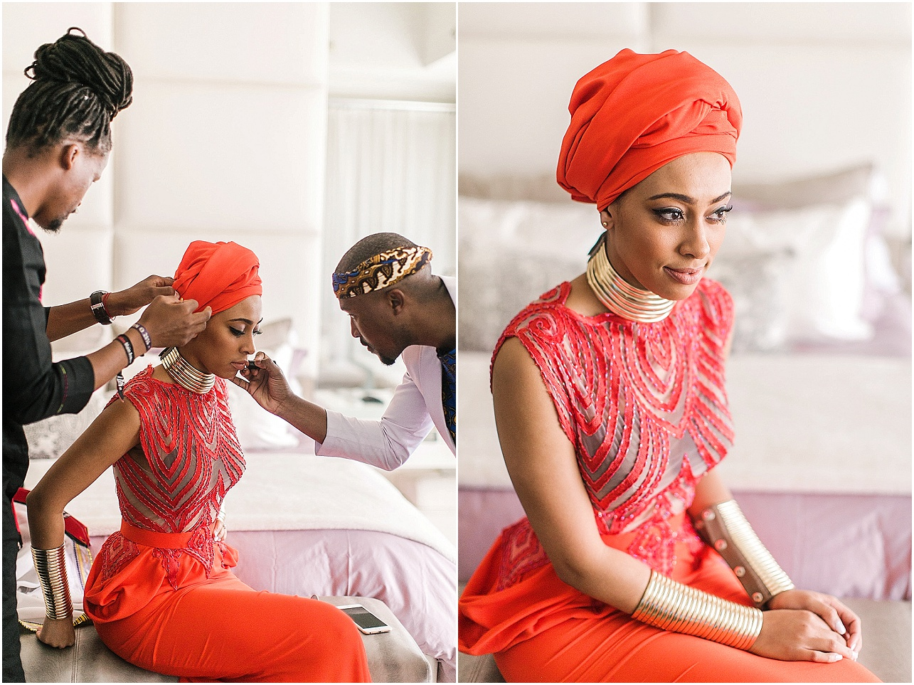 African wedding make up