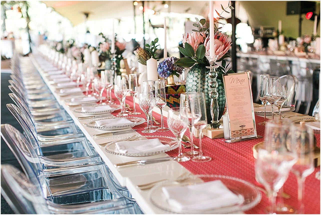 Modern african wedding table