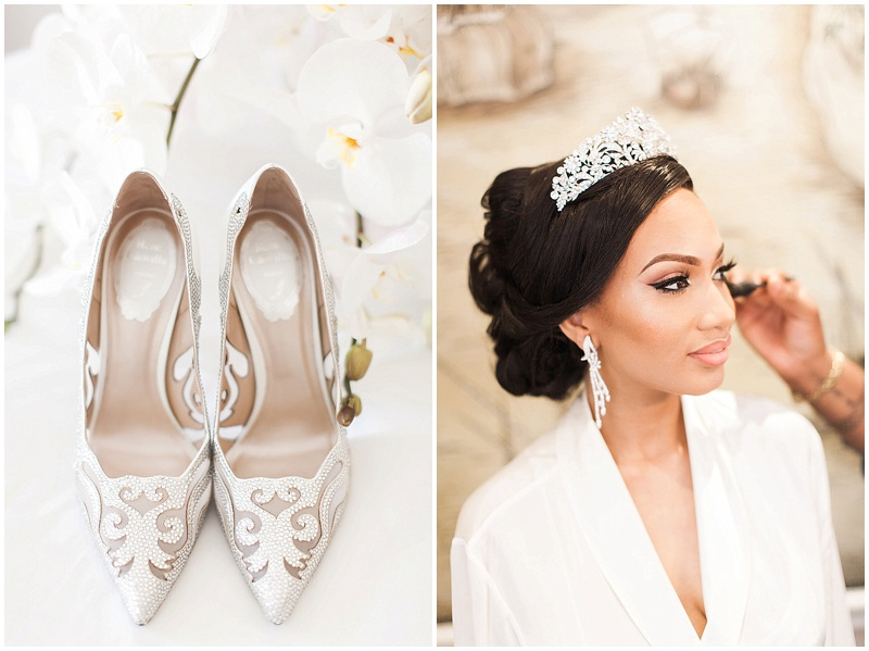 tiara nigerian bride wedding shoes
