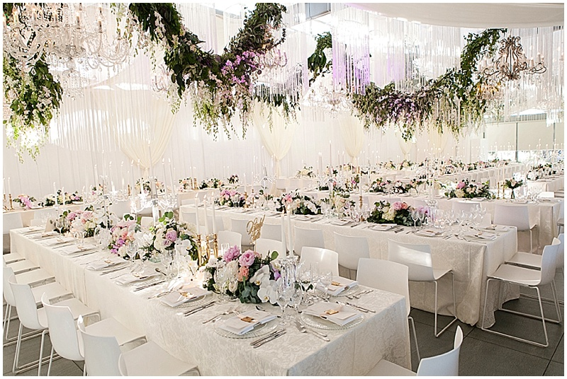 luxury wedding decor floral garlands