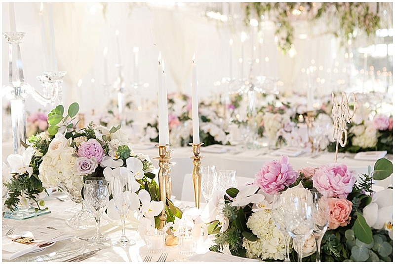 wedding luxury table decor candlesticks