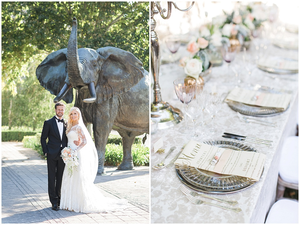 Vintage outdoor wedding at Grande Provence