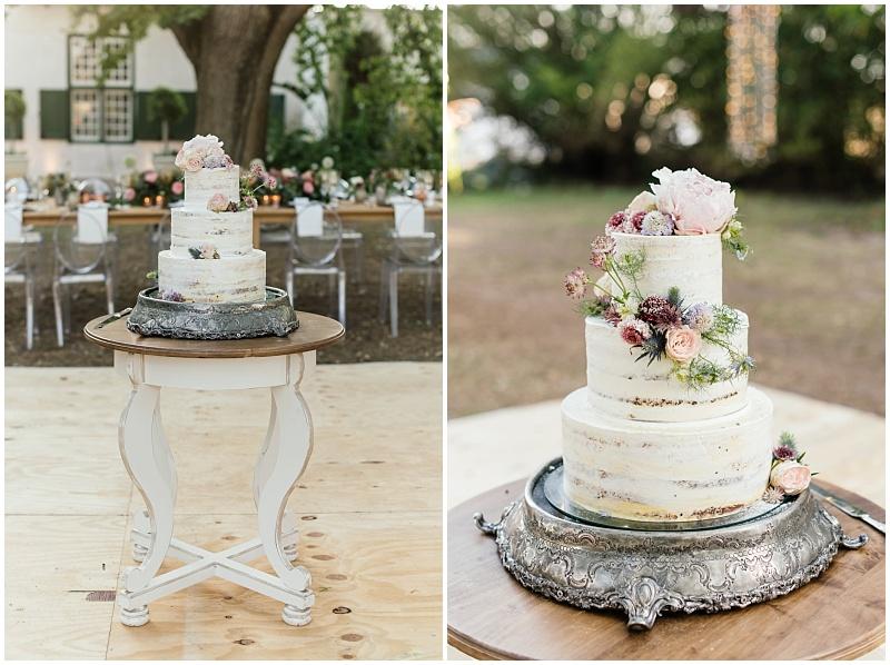 Kanya Hunt semi naked rustic 3 tier wedding cake