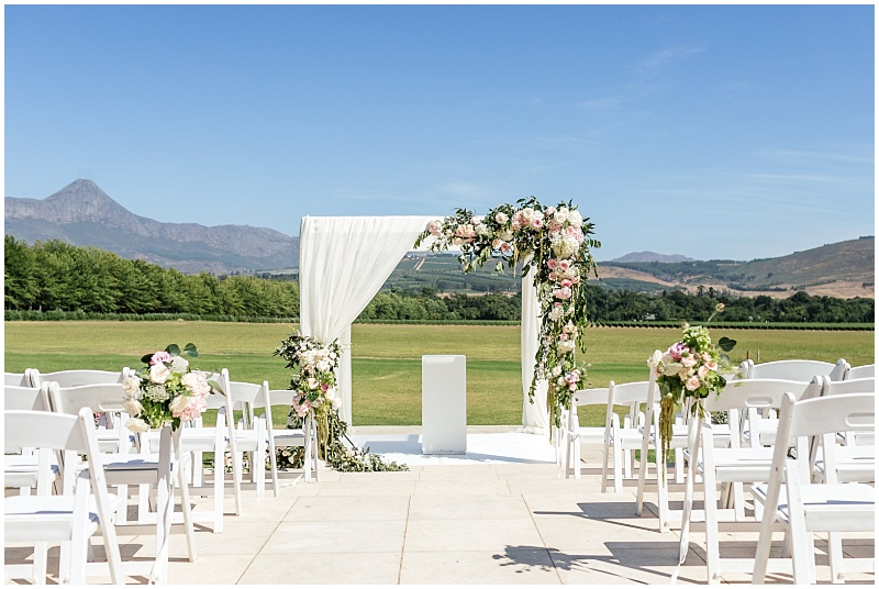 Lourensford Laurent outdoor wedding ceremony