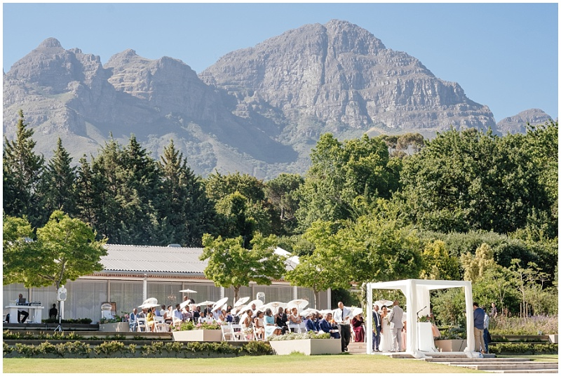 Magnificent mountain ceremony backdrop