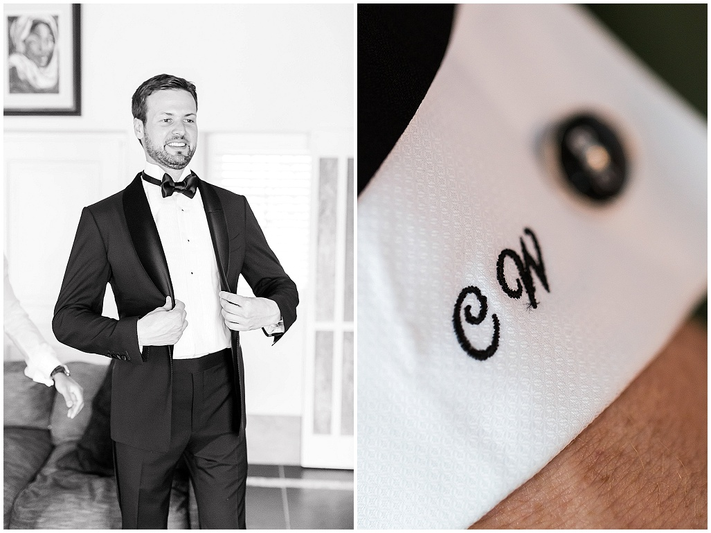 Personalised grooms cuff
