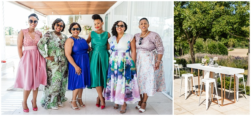 Stylish African ladies at South African wedding