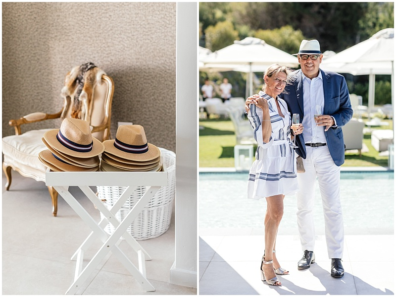 wedding favours - designer Panama hats