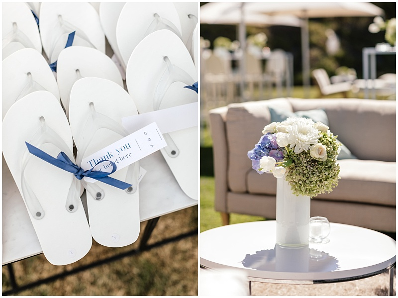 personalised flip flops as wedding favours
