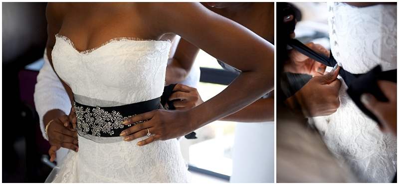 Black wedding waist belt
