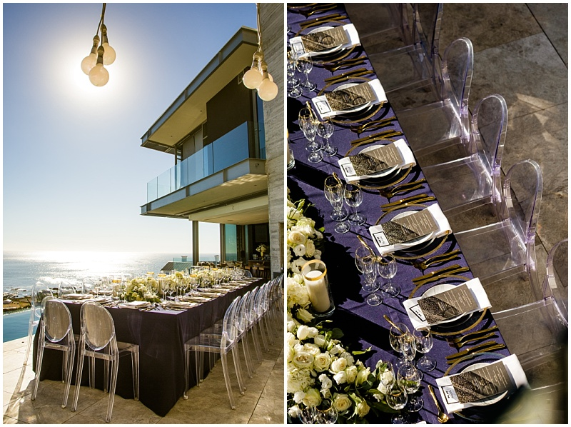 Camps Bay poolside intimate wedding reception