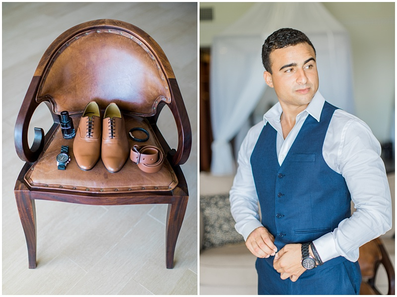 Stylish groom accessories