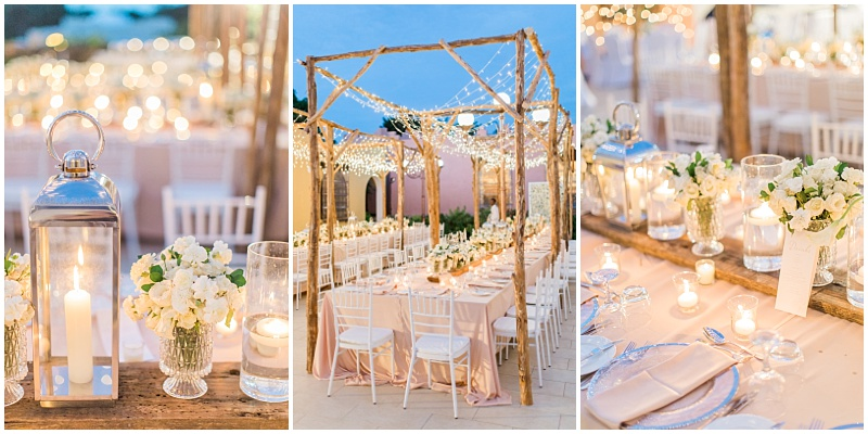 Fairylight wedding decor
