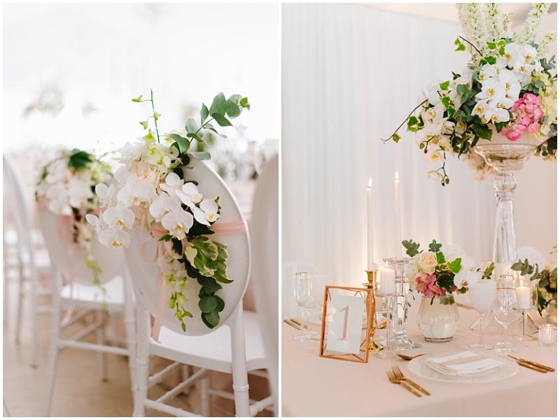 wedding chair detail