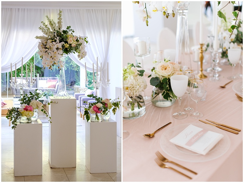 pink and white romantic wedding inspiration