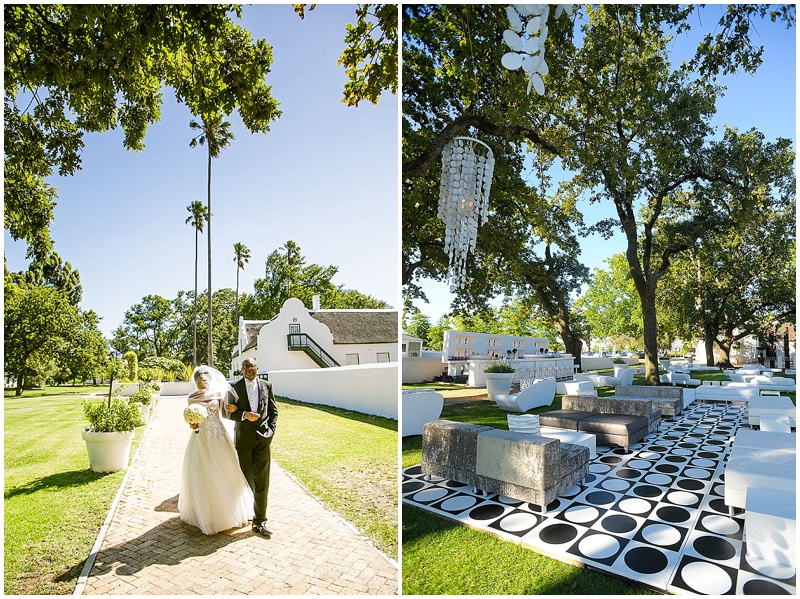Allee Bleue winelands Franschhoek wedding venue