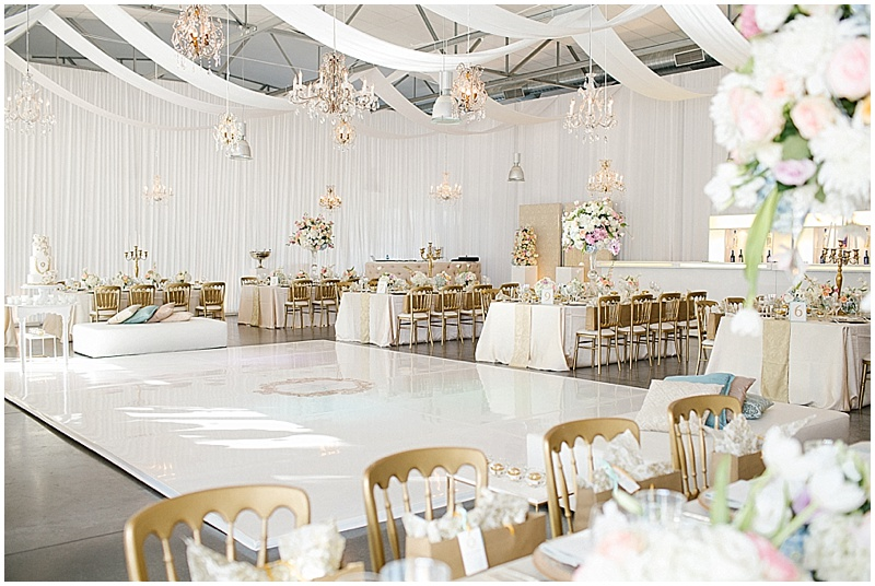 Allee Bleue wedding reception decor
