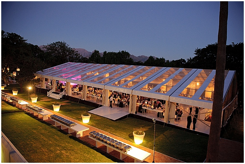 Franschhoek marquee wedding