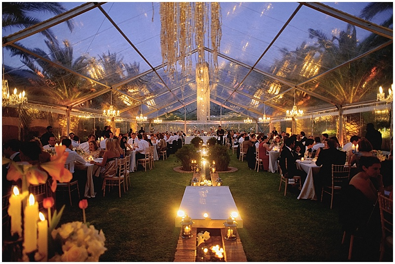 marquee wedding at La Residence