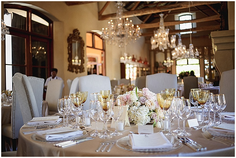 La Residence dinner reception