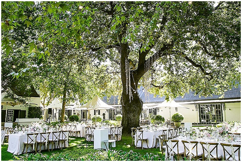 Outdoor wedding reception Grande Provence