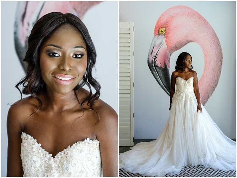 bride at Majeka house, stellenbosch