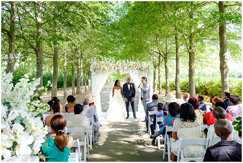 Lourensford ceremony setting