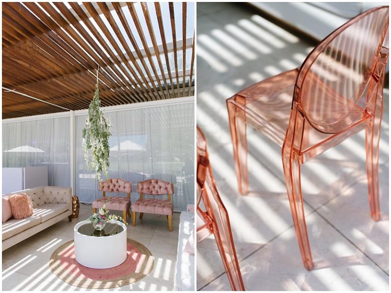 Pink inspired wedding lounge