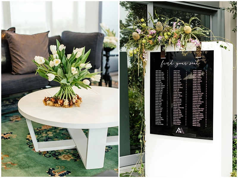Modern wedding seating plan
