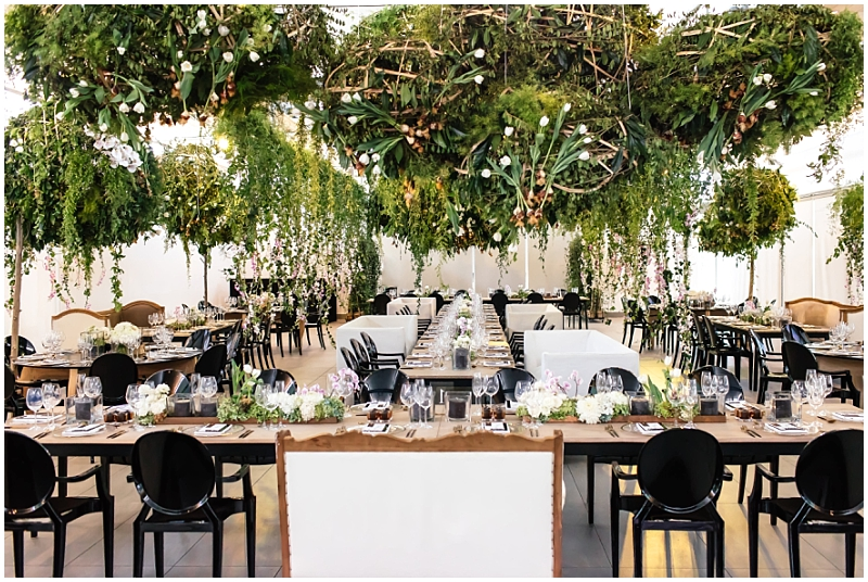 Green wedding decor modern