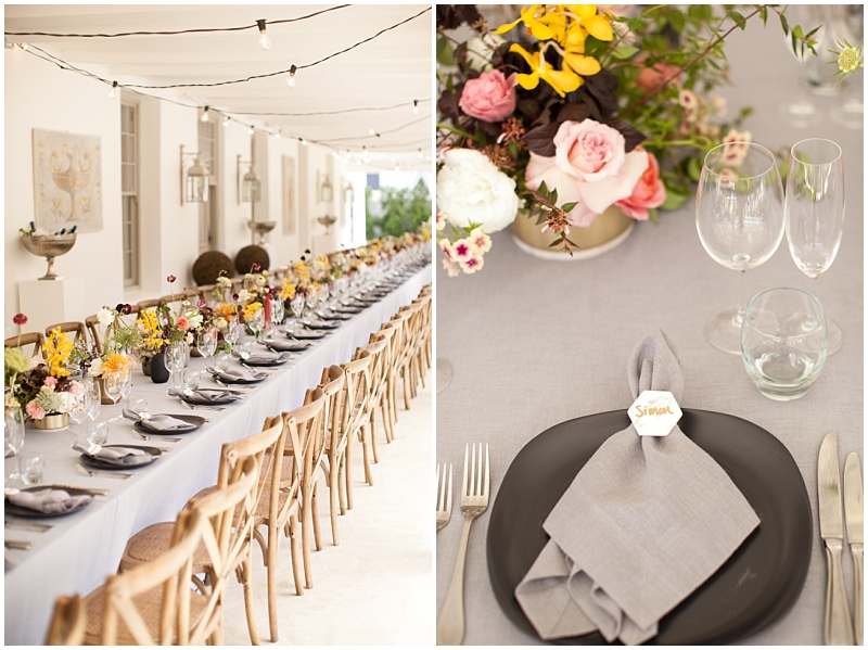 summer chic wedding decor