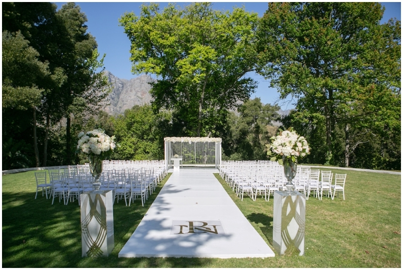 Modern Outdoor Wedding Ceremony Decor