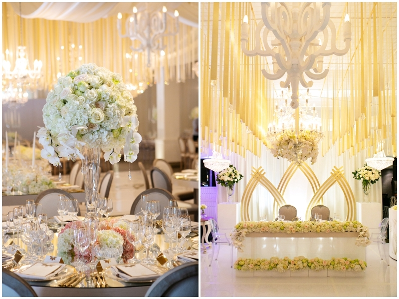 Elegant Ivory and Blush Centerpiece