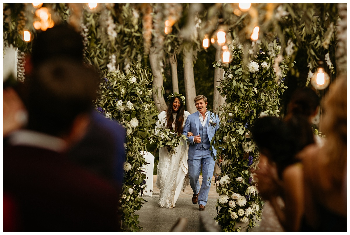 Couples entrance into the reception