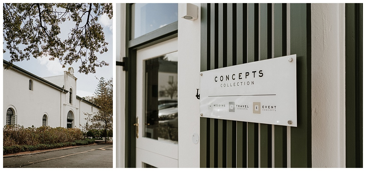 Concepts Collection welcome sign