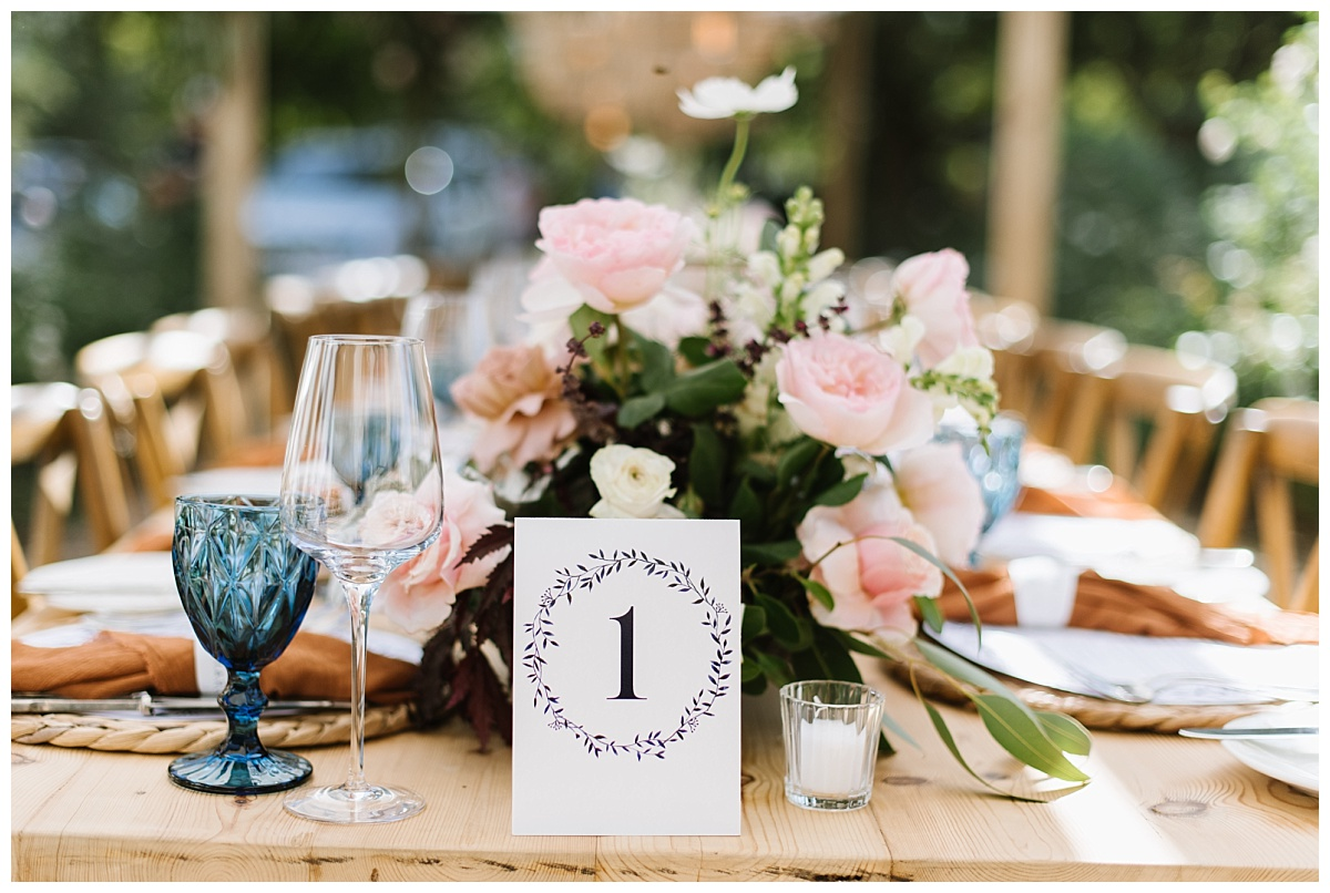 floral wreath design table number