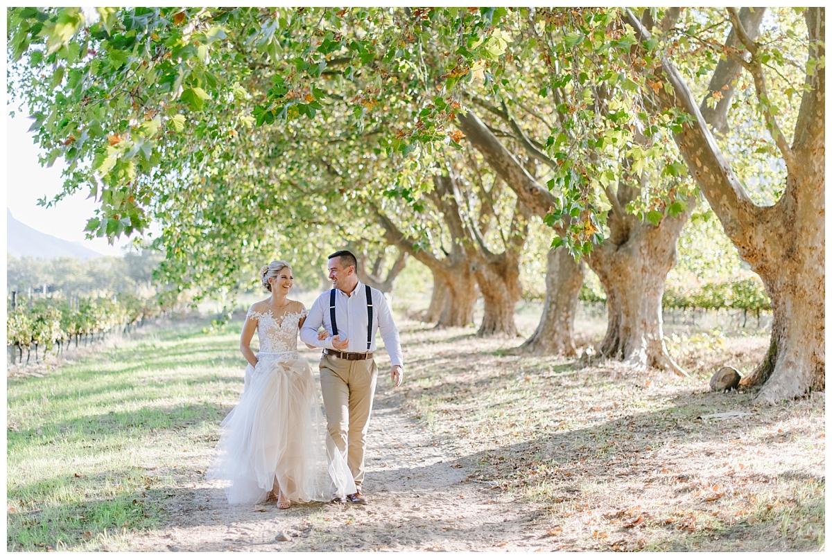 just married boschendal wedding