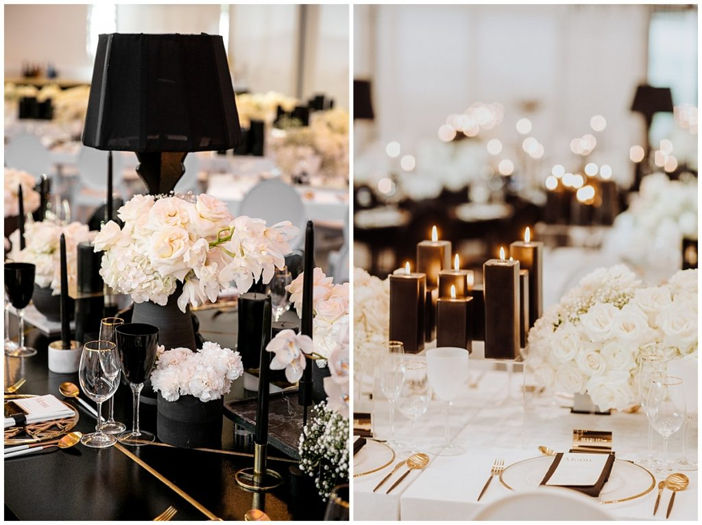 black and white wedding cavalli