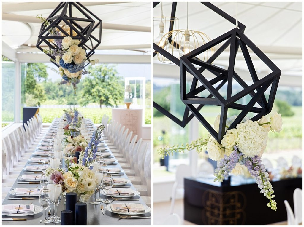 geometric hanging lights