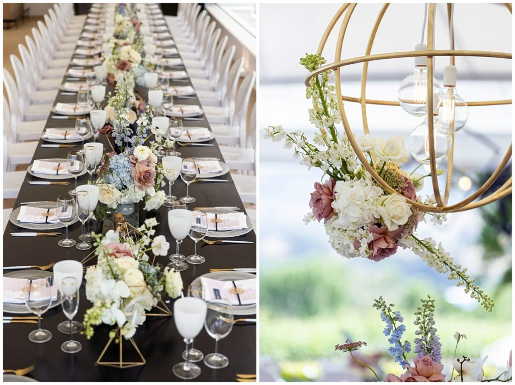 custom made table hanging floral