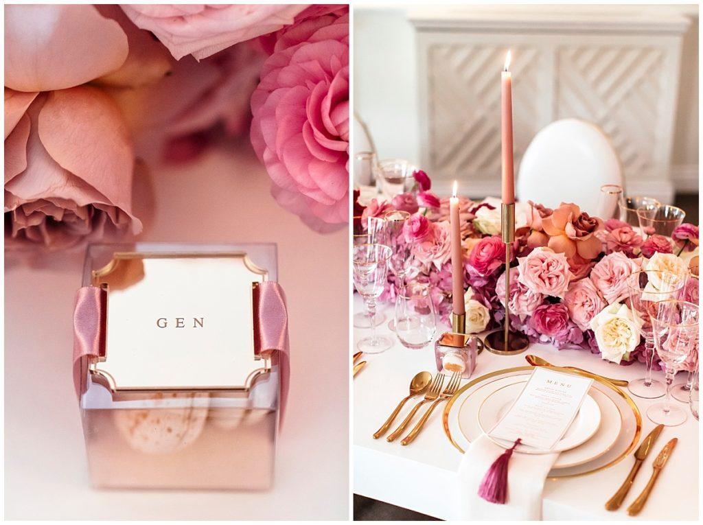 luxurious wedding table setting