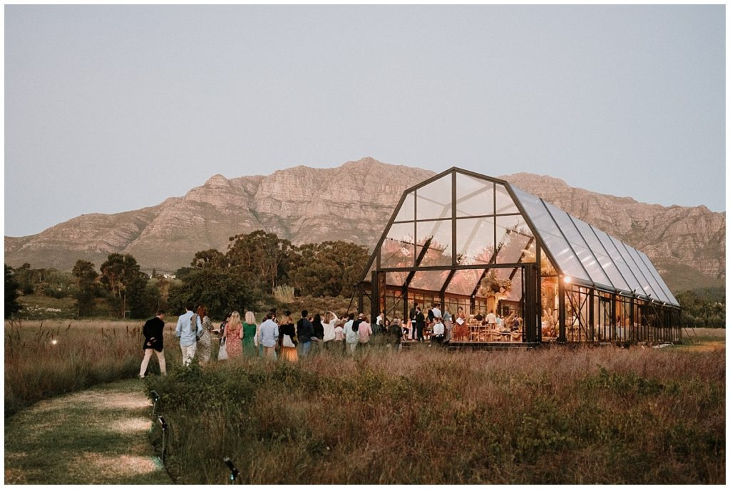 glass marquee in the winelands