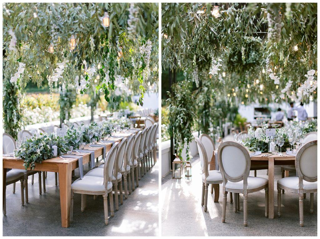 suspended greenery molenvliet wedding