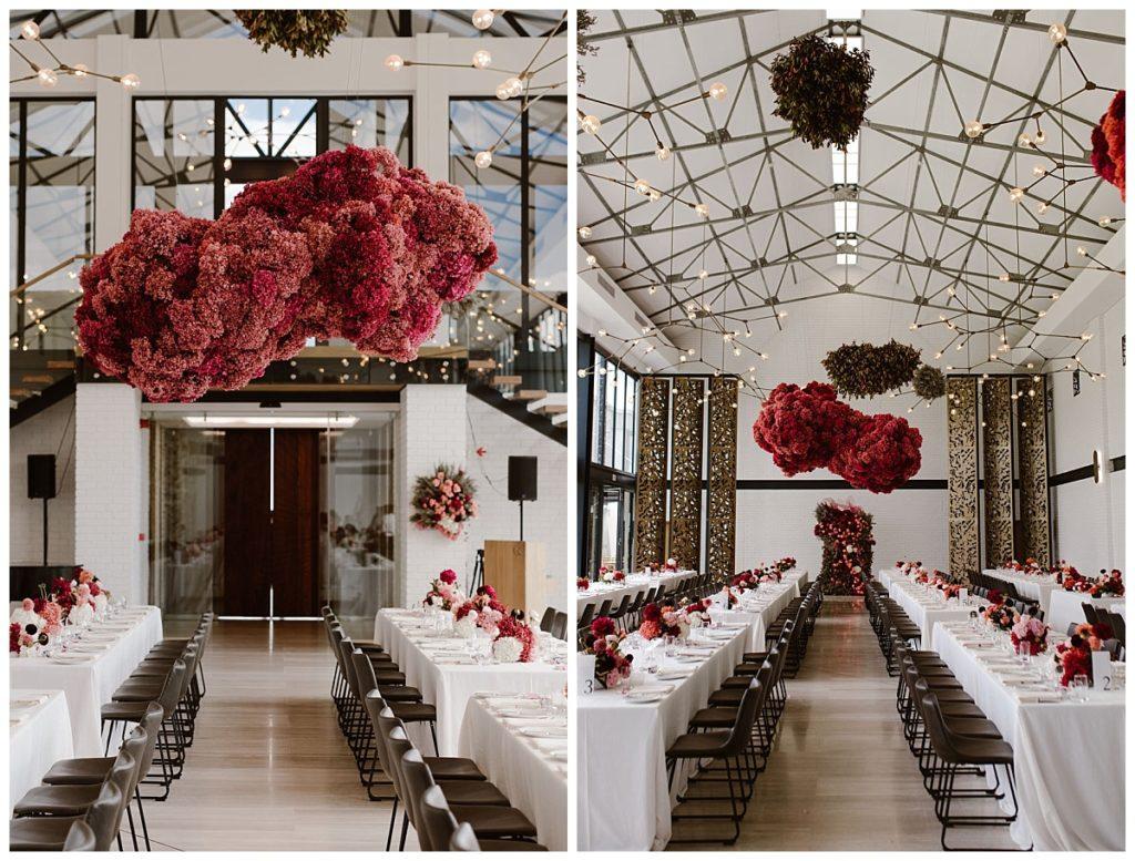 unique wedding floral suspension