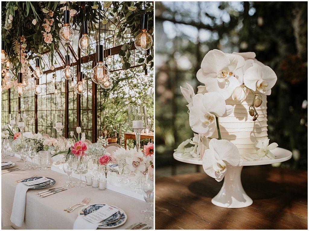 buttercream wedding cake naked bulbs