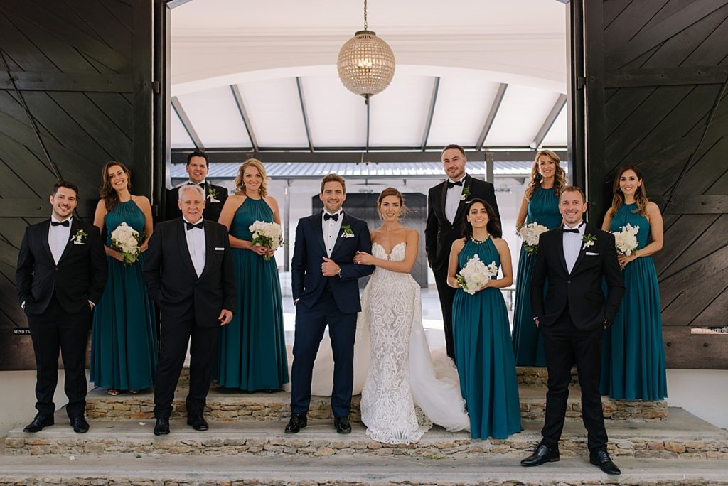 bridal retinue wedding photo